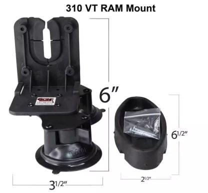 310 VT RAM Gun Glass Mount in Tractor or Combine