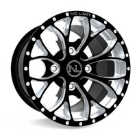 No Limit AL3701PB 14x6 Venom ATV Wheel in Positive Bullet Style for Can Am - Gloss Black