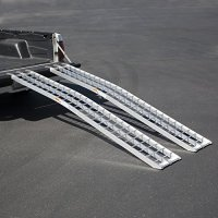"2pc 91"" Arched Straight Non-Folding Aluminum trailer Loading Ramp 1200LB CAR ATV Motorcycle"