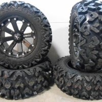"MSA Black Kore 14"" ATV Wheels 26"" Rip Saw Tires Honda Rincon Yamaha Rhino Kawasaki Brute Force Suzuki KingQuad"