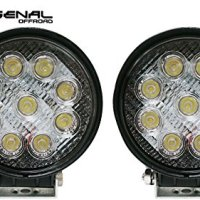 "LED 4"" round spot light off road Rack Bar lighting 4x4 Trucks Jeeps ATV UTV Rhino Razor boats 12volt 2pack Combo"
