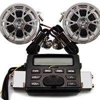 Anysun® ATV / Motorcycle 12v Fm Radio Mp3 Ipod Stereo Speakers Amplifiers System Audio Sound Music Songs Media Player Quad Four 4 Wheelers Professional All Terrain Offroad Racing Sport Sporting Supplies Vehicle Boat Moped Scooter Motorbike Motocross 4x4 Accessories Gear Parts Stuff Components Gadgets Products Equipment Tools Items Shop Store Surround Electric Digital Electronic Bike