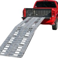 "Premium 168"" Heavy Duty Fold Ramps to load Motorcycles,ATV's,UTV's & Tractors (Pair)"