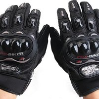 Motorcycle Accessories Pro-Biker Motocross Racing ATV UTV Outdoor Sport Finger Protective Carbon Fiber Gloves Black Size XL For 2008 2009 2010 SUZUKI GSXR 600 750 GSXR600 GSXR750