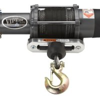 Viper Elite 5000lb UTV SxS Wide Spool Winch & Custom Mount Polaris Ranger XP 900 with BLACK AmSteel®-Blue synthetic rope