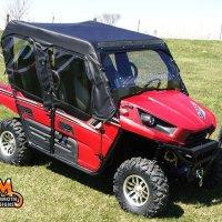 Mammoth Kawasaki Teryx 4 Full Cab with Aero-Vent Lexan Windshield MD-KAW-TERYX4-FC04BLK