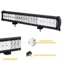 "Auxbeam 20"" LED Light Bar 126W 12600lm CREE Driving Light Combo Beams for ATV UTV SUV Pickup Van Offroad Jeep Ford"