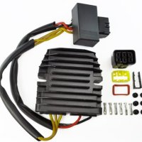 Improved Mosfet Voltage Regulator Rectifier For Arctic Cat Honda Kawasaki Suzuki Yamaha ATV UTV PWC Motorcycle OEM Repl.# 0824-037 21066-0705 21066-1127 31600-HN2-013 32800-38F10 32800-42F00