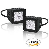 QUAKEWORLD 2Pcs 4inch 18W Flood LED Light Bar Offroad Pods Lights Boat Lights driving lights Led Work Light, One years Warranty