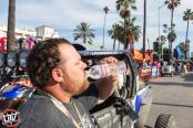 Jagged X Racing driver Brandon Scheuler after the finish of the 2018 Baja 1000