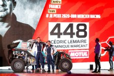 448 Lemaire Cedric (fra), Marcant Dominique (fra), Can-Am, Je Peux 2020-BBR Mercier Racing, SSV, Motul, action during the departure ceremony of the 2020 Dakar in Jeddah, Saudi Arabia on January 4, 2020 - Photo Julien Delfosse / DPPI