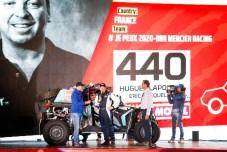 440 Lapouille Hugues (fra), Croquelois Eric (fra), Can-Am, Je Peux 2020-BBR Mercier Racing, SSV, Motul, action during the departure ceremony of the 2020 Dakar in Jeddah, Saudi Arabia on January 4, 2020 - Photo Julien Delfosse / DPPI