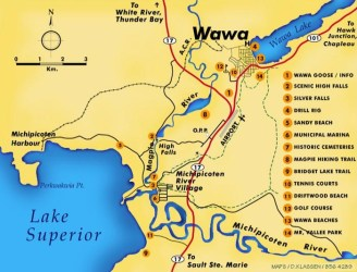 wawa area map