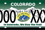 Colorado Stay The Trail Custom License Plates