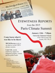Flyer for Paris Climate Summit Report