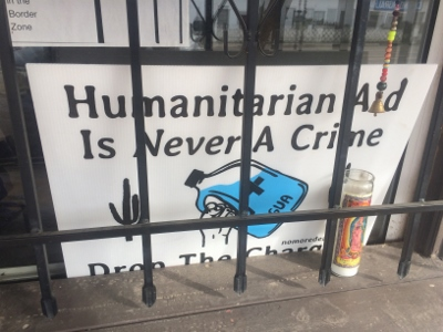 Sign in window: Humanitarian Aid Is Never A Crime