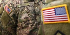 U.S. flag patches on army uniforms