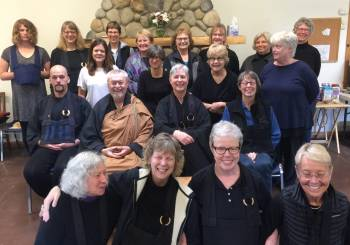 Bright Cloud Zen students and teachers after May 2019 retreat