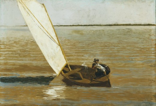 """American Sailing"" - painting by Thomas Eakins"