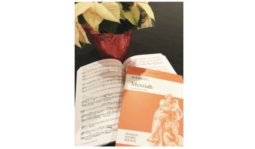 Messiah score and poinsettia