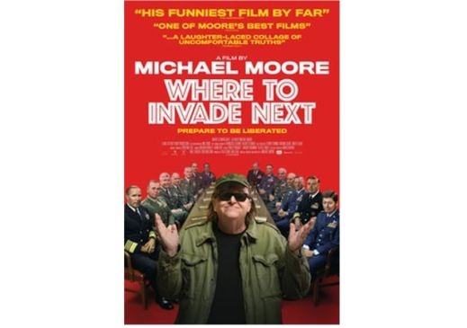 Poster for Michael Moore's film Where to Invade Next