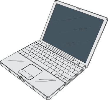 illustration of a laptop computer
