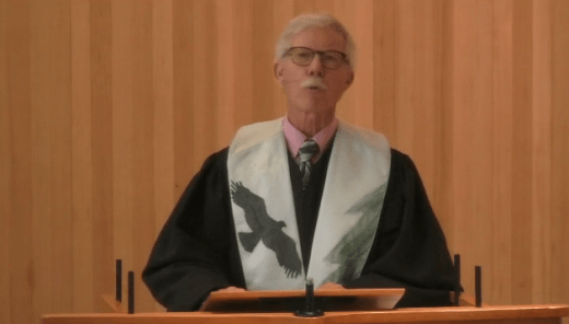 Bruce Davis Delivering a Sermon on July 12, 2020