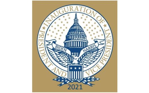 US Seal: Inauguration of President and Vice President 2021 Viden Harris