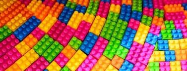 colorful pattern of Lego blocks