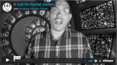 Opening shot of video: A Call for Racial Justice