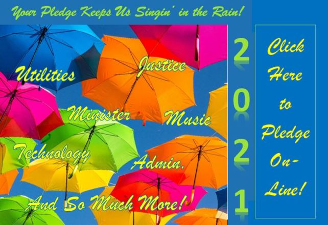 Umbrellas with Your Pledge Keeps us Singin' in the Rain