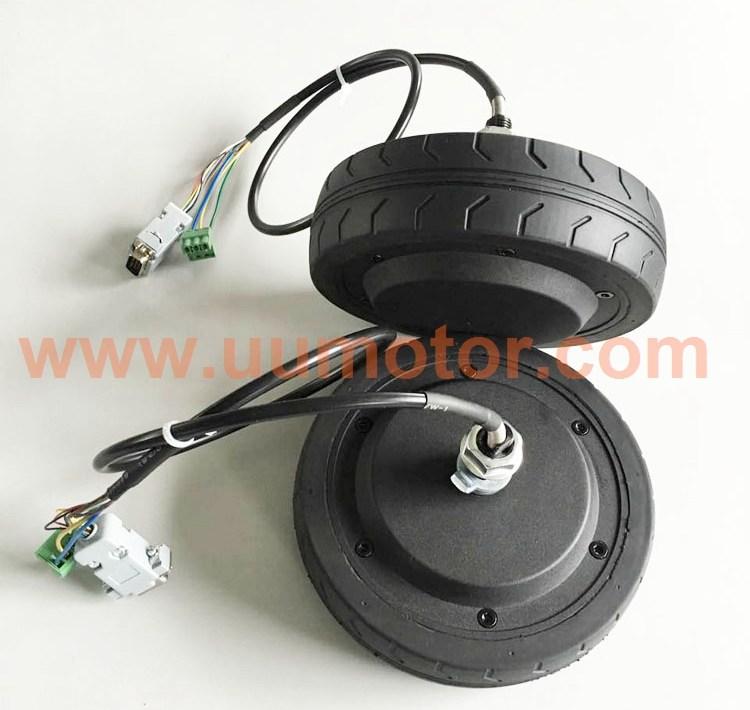 6 5 inch 350w brushless servo hub motor with encoder - UU Motor