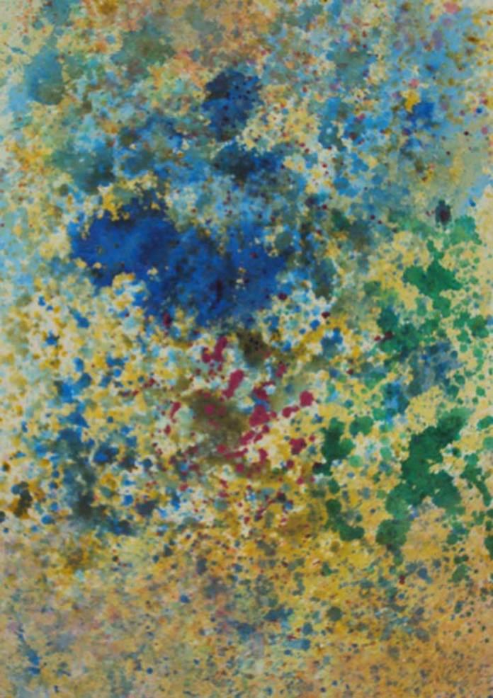 Eclosión de una flor azul, obra de Roger von Gunten