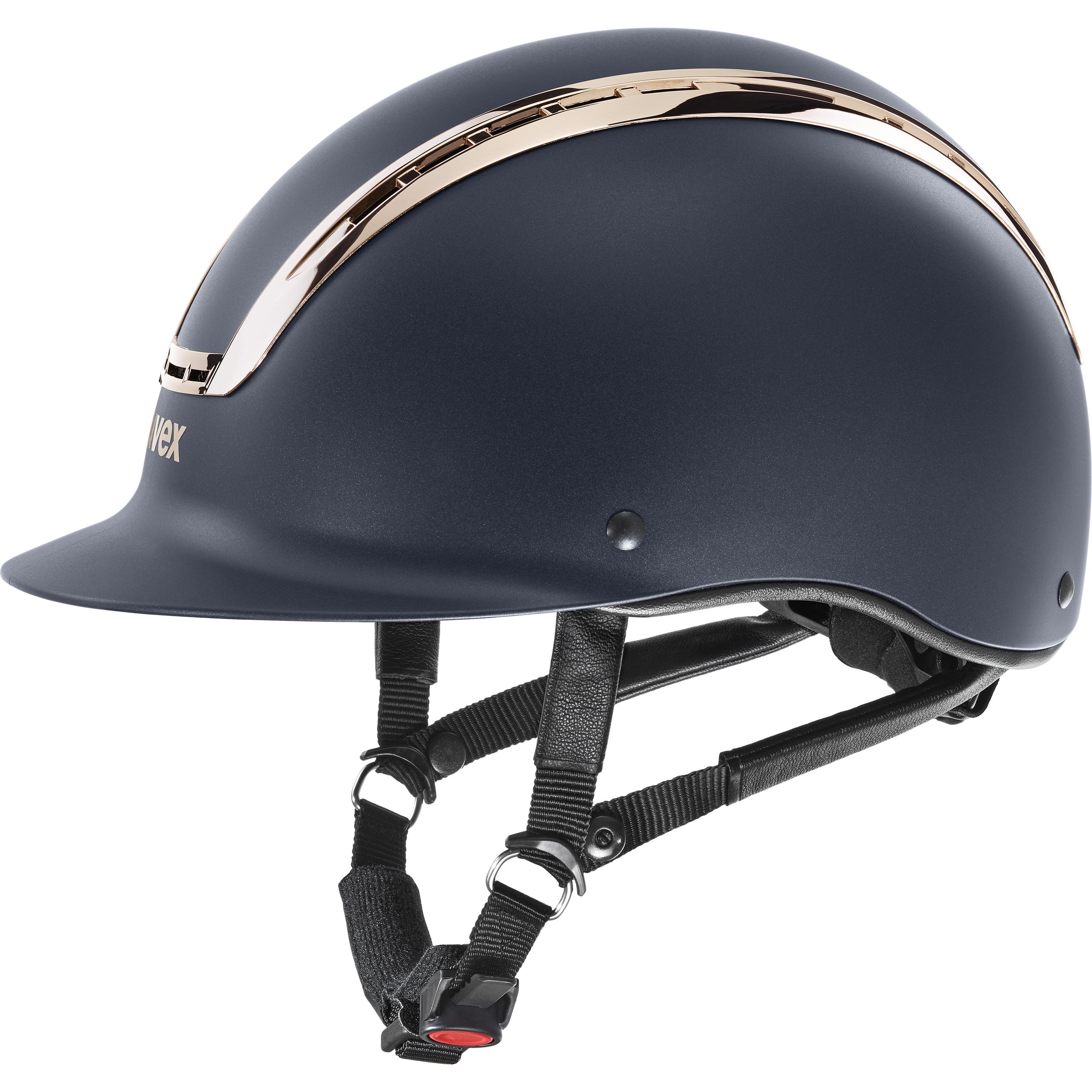 Uvex Suxxeed Chrome Navy Mat Coral Riding Helmets Uvex Sports