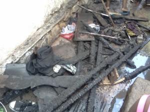 Maison brulée à Uvira