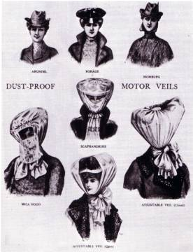 1900s Motoring Hats and Veils