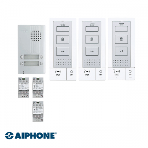 Aiphone Hands-free Audio set 3 appartementen (DB-1MD x 3