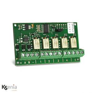 Ksenia Auxi R - PCBA Expansion module 5 relais 1A