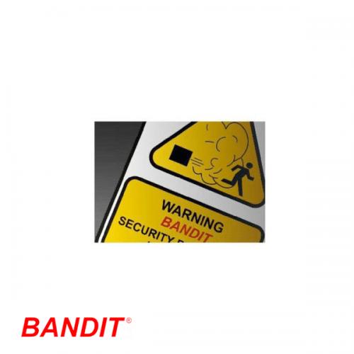 Bandit Waarschuwingssticker