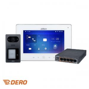 Dahua Dero's intercom kit: VTO + VTH + SWITCH