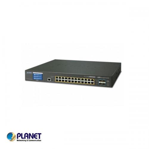 Planet L2+ 24-Port 10/100/1000T Ultra PoE + 4-Port 10G SFP+ Managed Switch