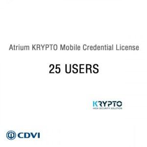Atrium Krypto Mobile Credential License 25 USERS