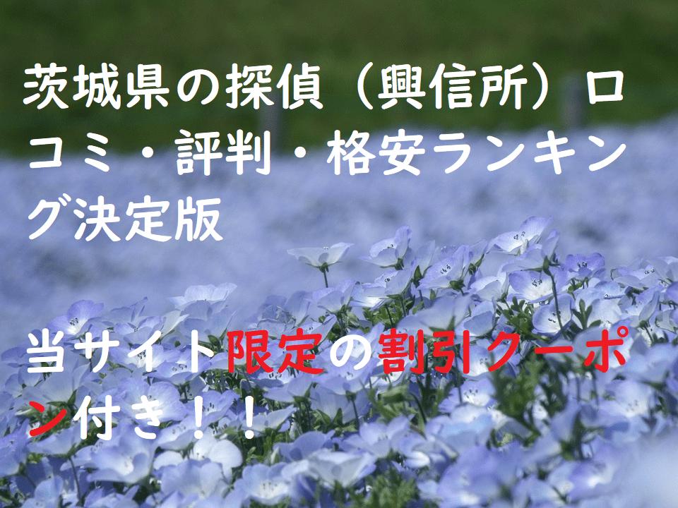 茨城県の探偵(興信所)口コミ・評判・格安ランキング決定版