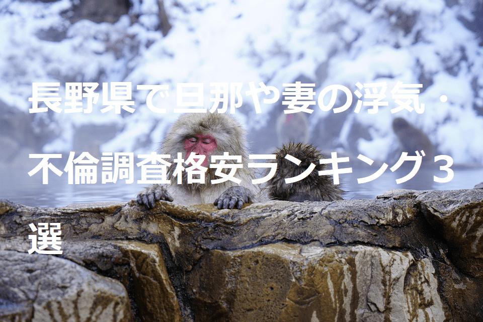 長野県で旦那や妻の浮気・不倫調査格安ランキング3選