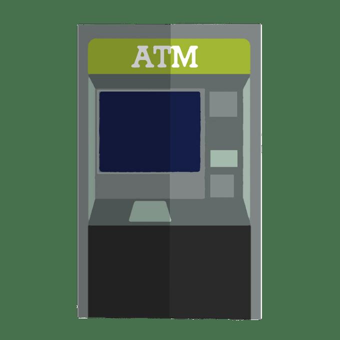 Atm ベクトル 銀行 漫画 生成されたデジタル画像 ビジネス クレジット カード