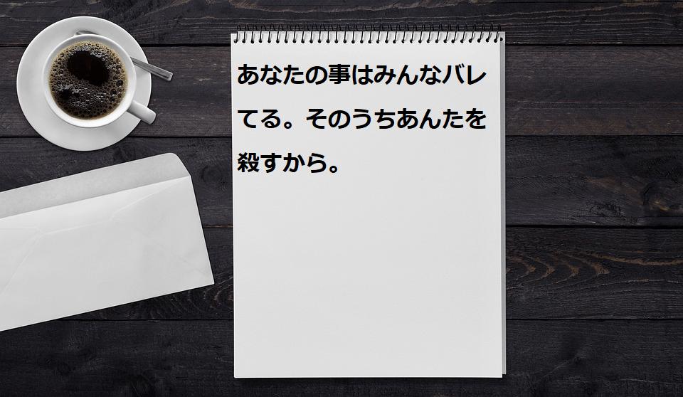 ストーカー 脅迫 手紙 殺害予告