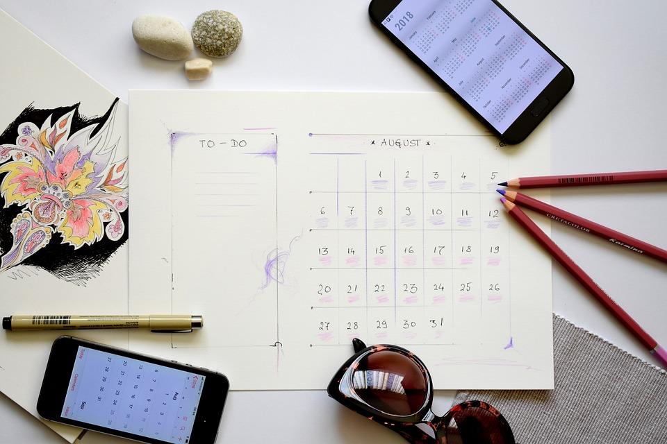 プランナー 計画 大騒ぎ To Do リスト 8月 カレンダー 休暇 休み企画 ライフスタイル