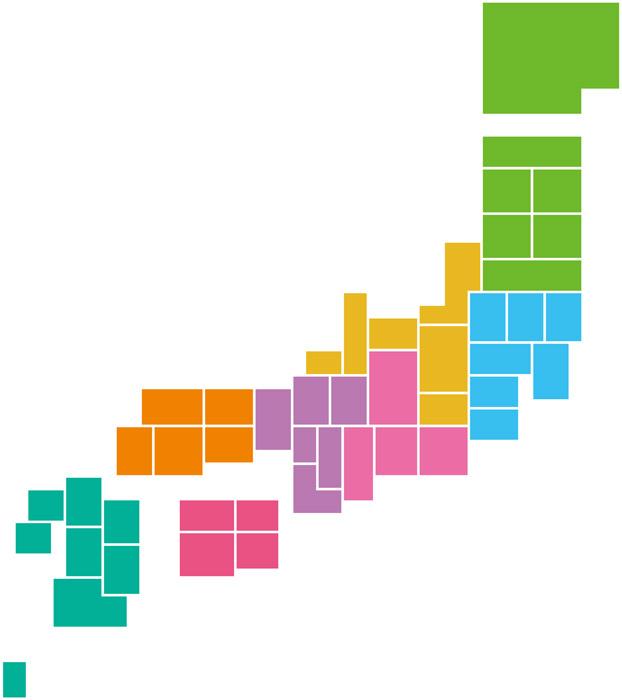 日本地図 シンプル