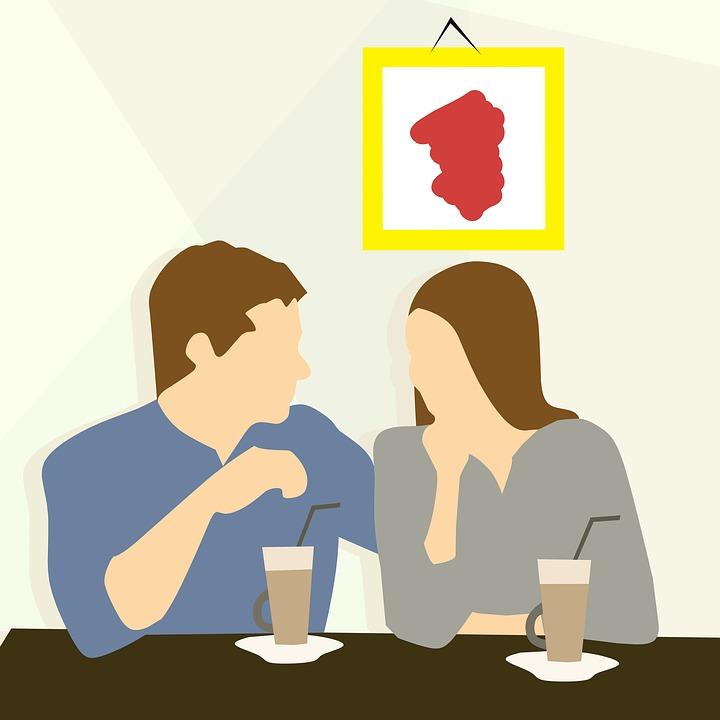 美しい カップル 日付 幸せ 愛 レストラン ロマンチック 若いです 出会い 一緒に