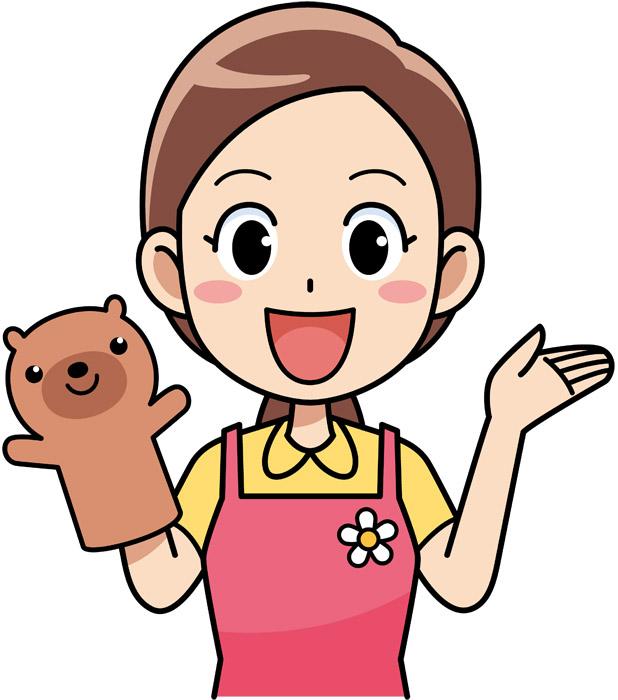 保育士 女性 人形